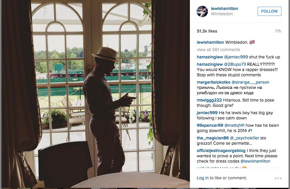 Lewis Hamilton Wimbledon Royal Box