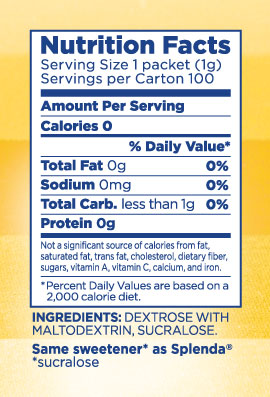 Splenda Nutrition Facts