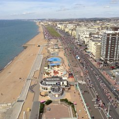 The view west from the i360 in Aug 2015