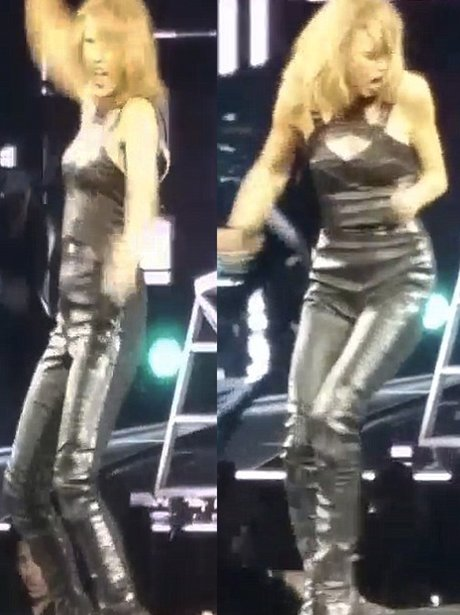 Taylor Swift Grabbed By Ankles On Stage (Instagram