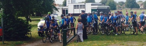 Cyclists gather for procession