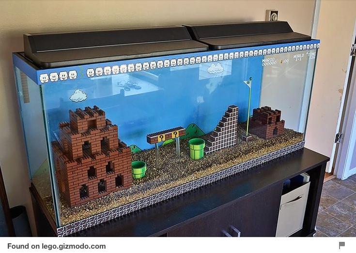 Super Mario Lego Aquarium