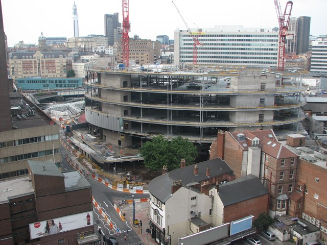 Building work at New Street Station