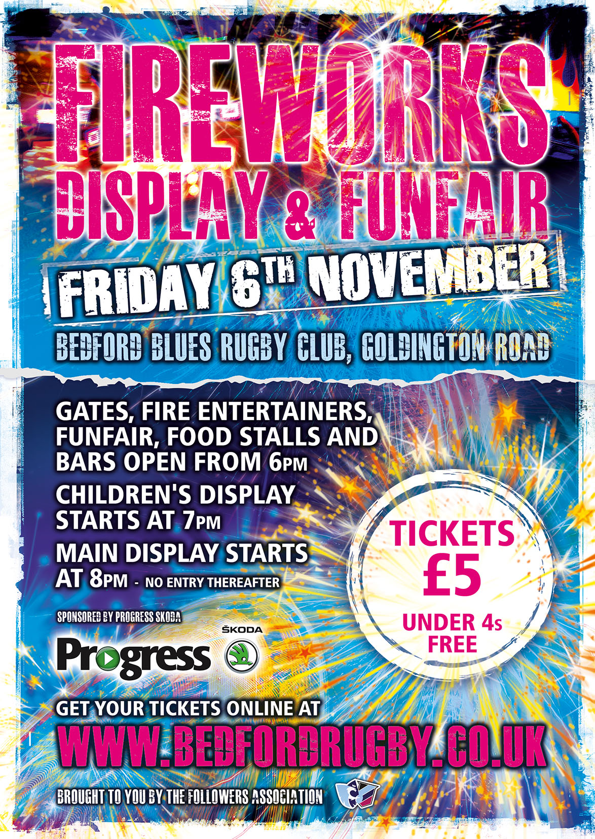 Bedford Blues Rugby Club Fireworks 2015
