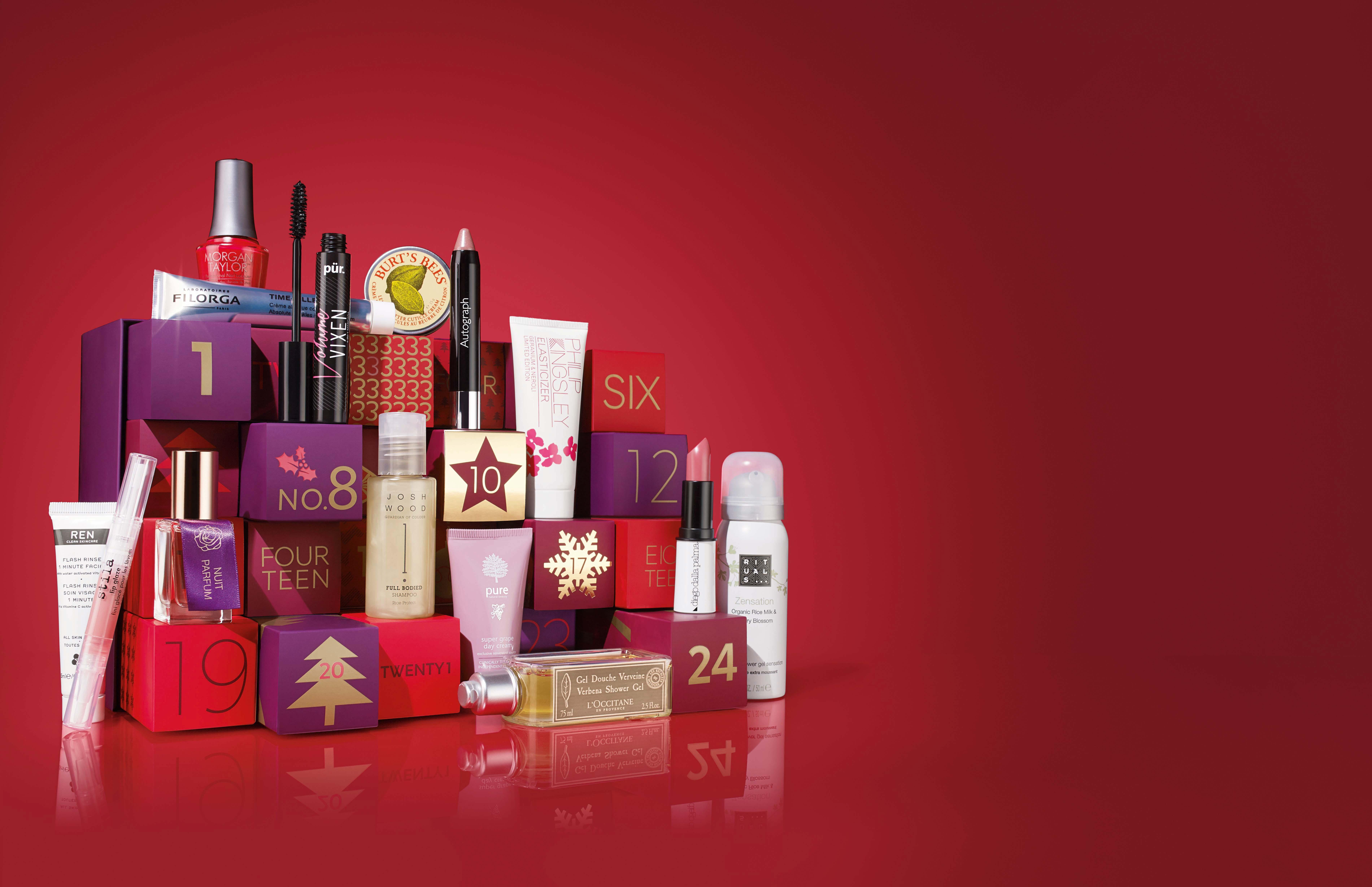 m&s beauty advent calendar pr shot