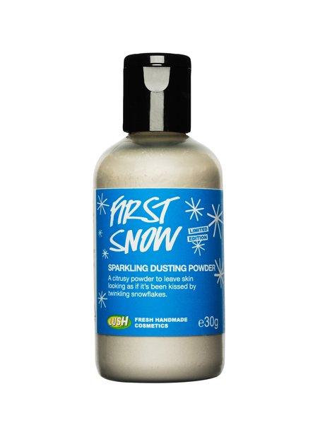 first snow lush cosmetics pr shot