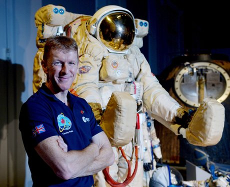 Tim Peake and an astronaut suit