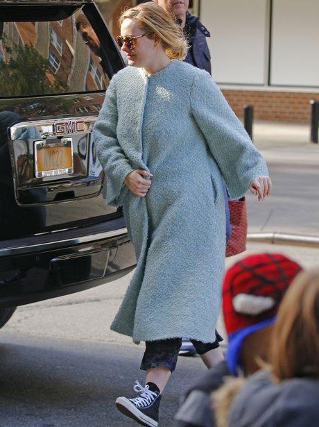 Adele Blue Blanket Coat