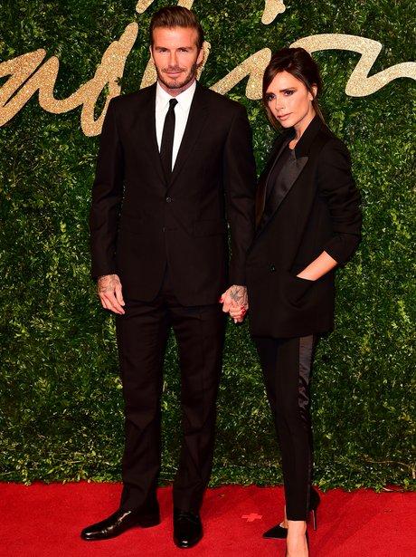 David and Victoria Beckham British Fashion Awards
