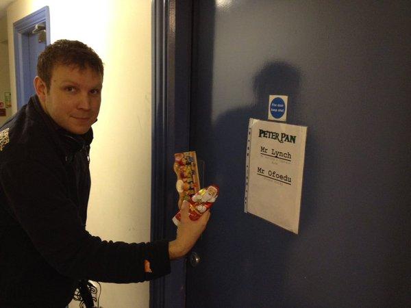 Matt delivering Bens prize