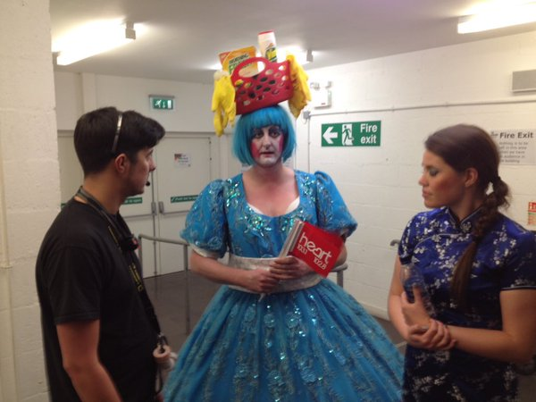 James and Becky backstage