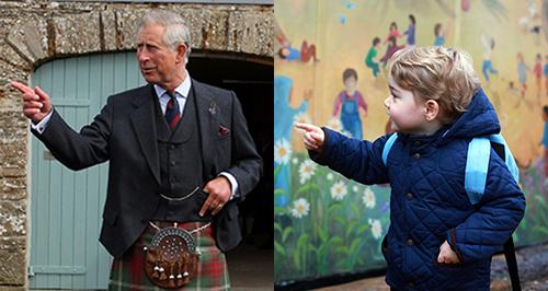 Prince Charles and Prince George