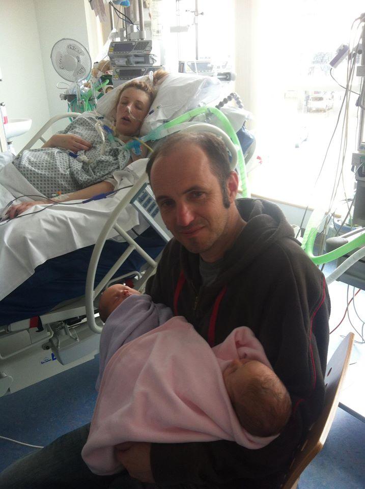 Emma Clarke in hospital