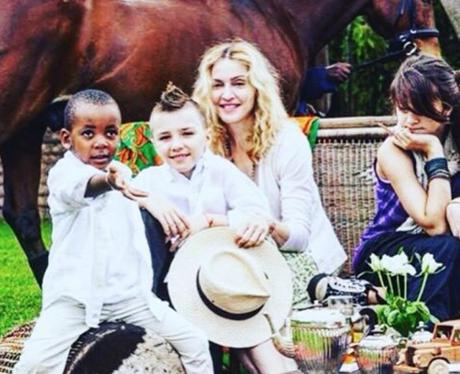 madonna throwback family photo instagram