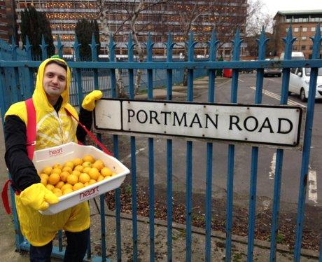 Producer Nick dressed as a Lemon!
