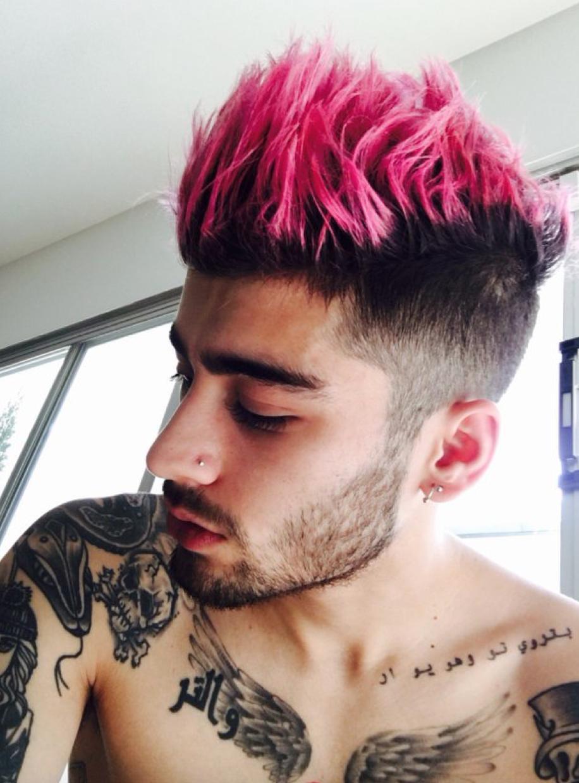 Zayn Malik Pink Hair Twitter