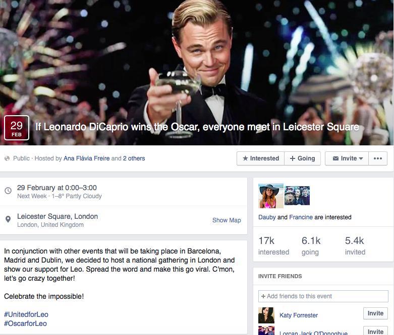 Leonardo DiCaprio Best Actor Party