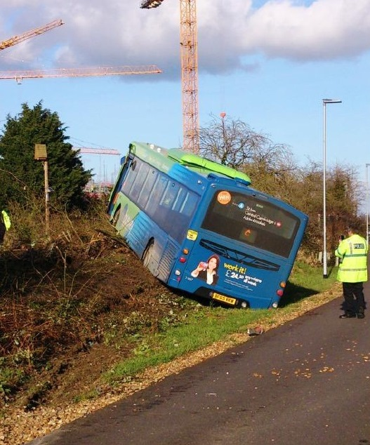 Cambridge Busway Crash 2