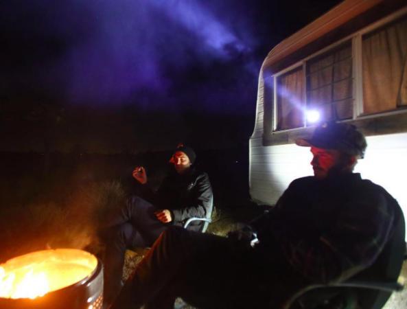 David Beckham camping trip