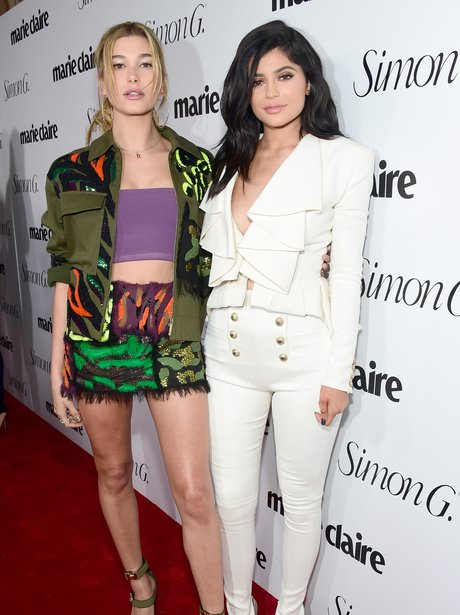 Kylie Jenner and Hailey Baldwin at Marie Claire la