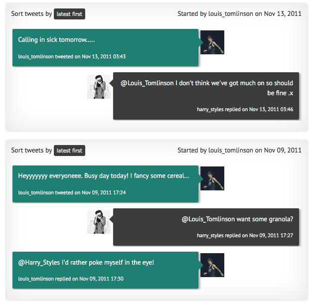 Conweets twitter conversation tracker screenshot