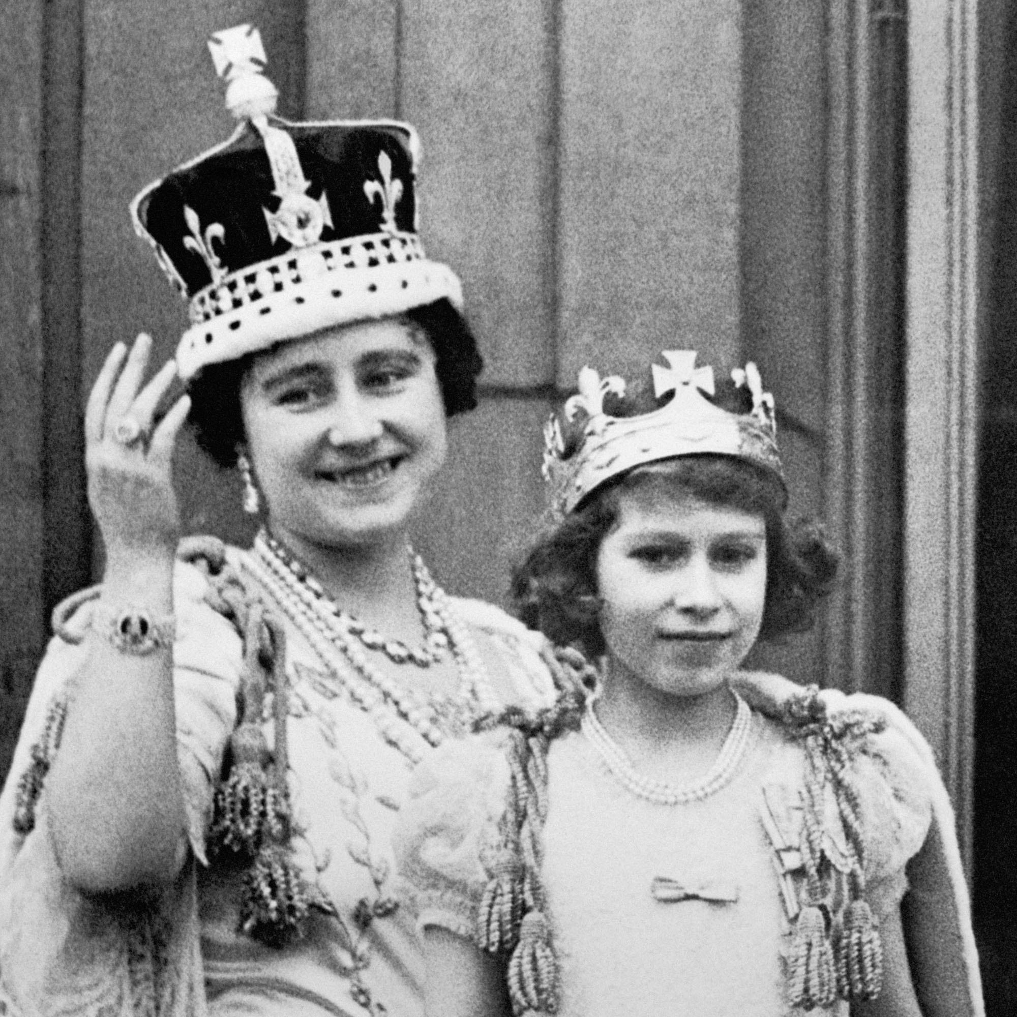 Princess Elizabeth and Queen mother