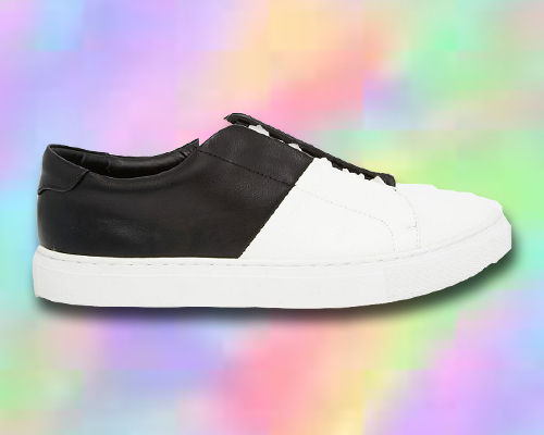 ASOS Lace Up Monochrome Trainers