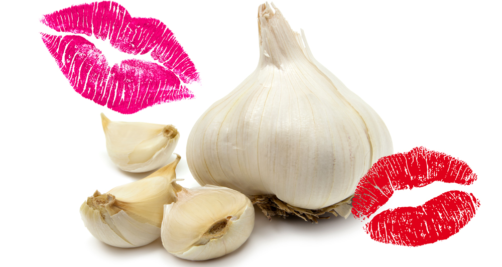 Garlic kissing smelly breath asset