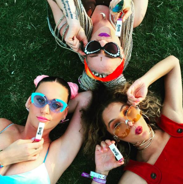 Katy Perry and friends at Coachella