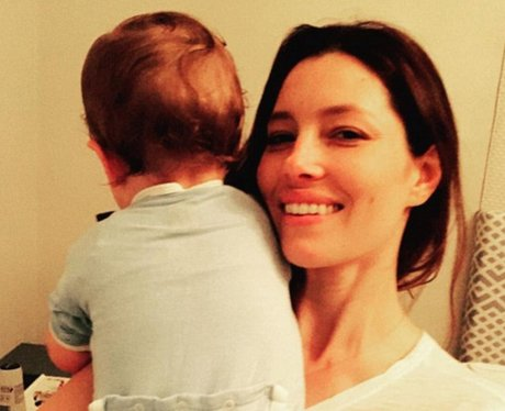 Jessica Biel and her baby