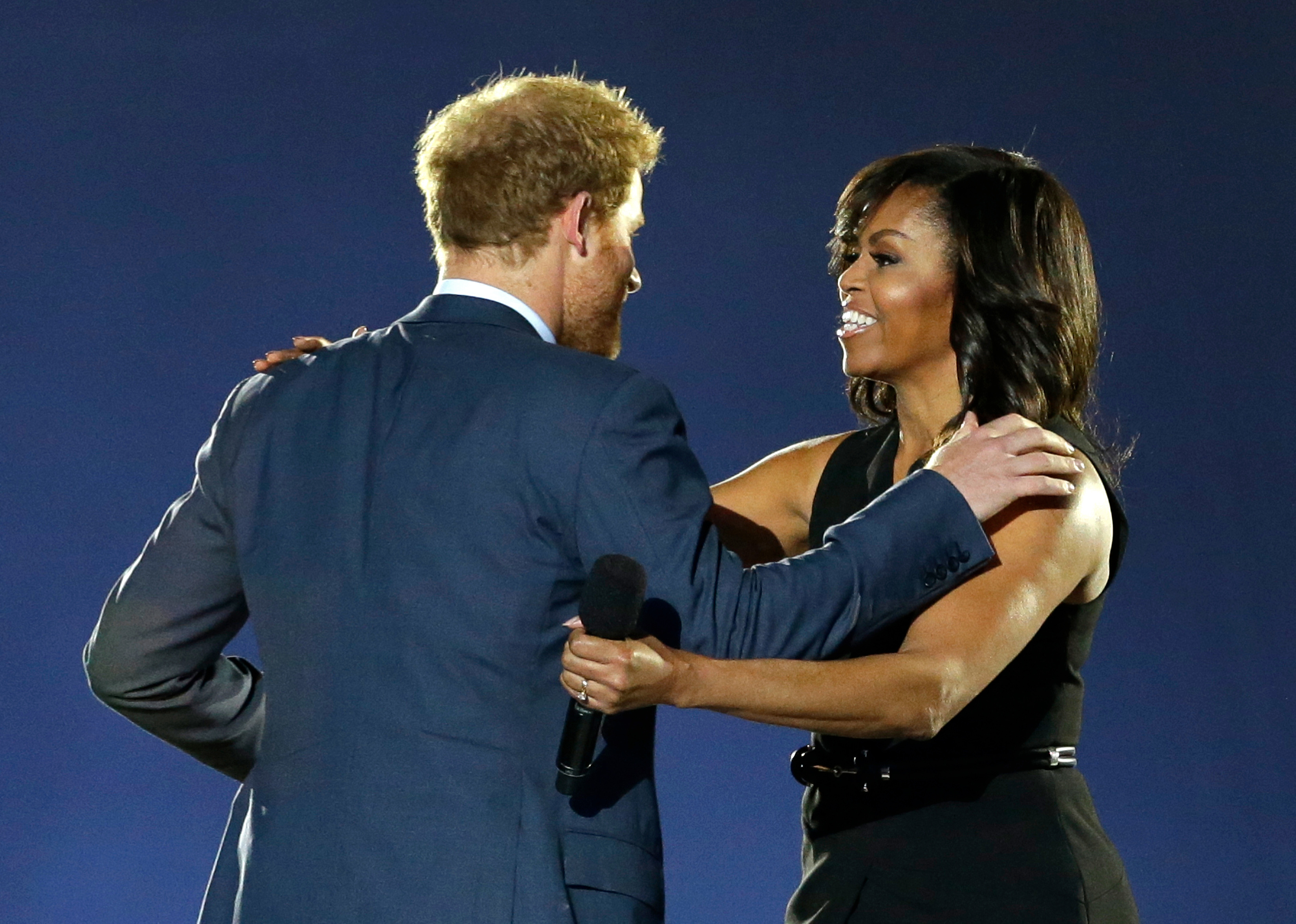 Prince Harry and Michelle Obama Invictus Games