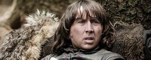 Nicholas Cage Bran Stark photoshop