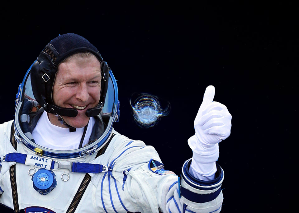 Tim Peake International Space Station crack