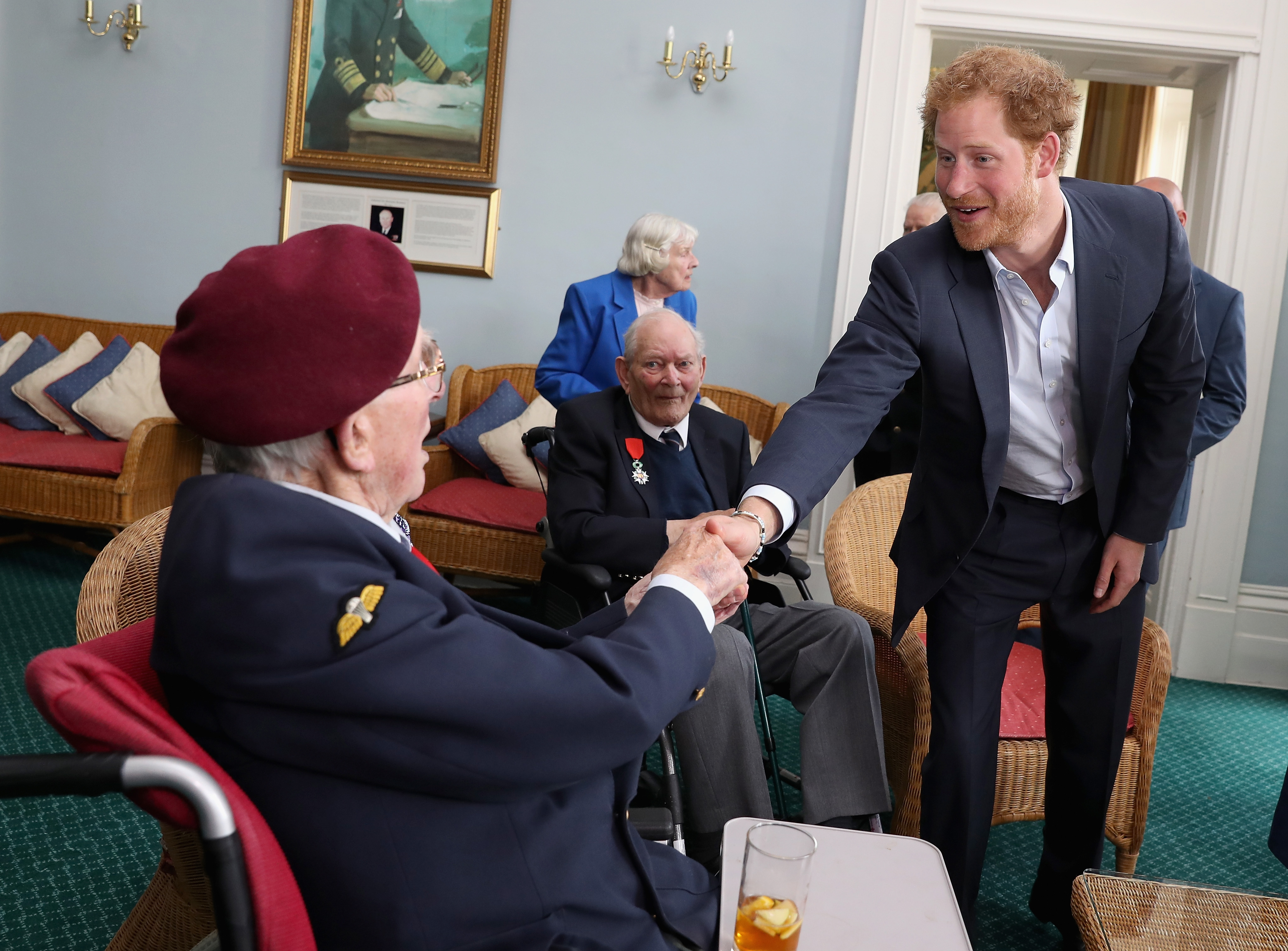 Prince Harry Meets D-Day Veterans