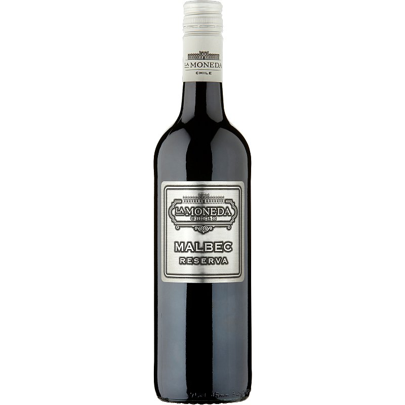 A bottle of red Malbec wine
