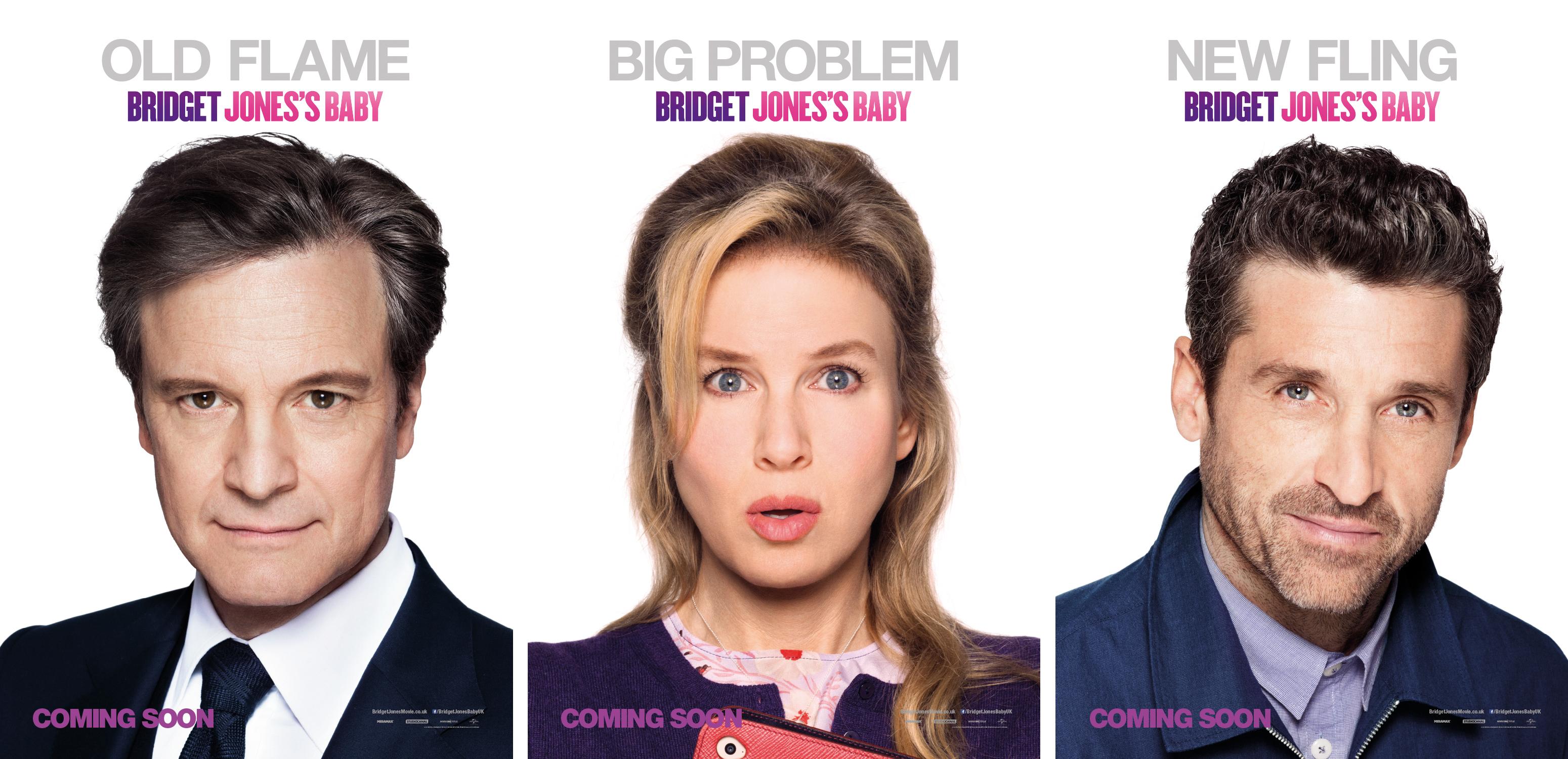 Bridget Jone's Baby character posters