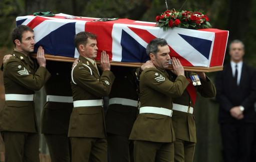 The funeral of Staff Sergeant Sharron Elliott take