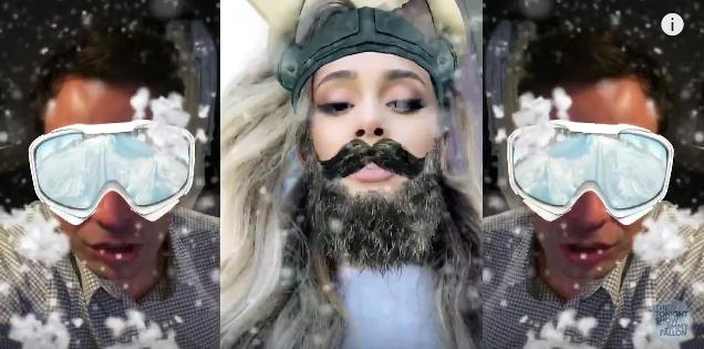 Snapchat video Jimmy Kimmel and Ariana Grande