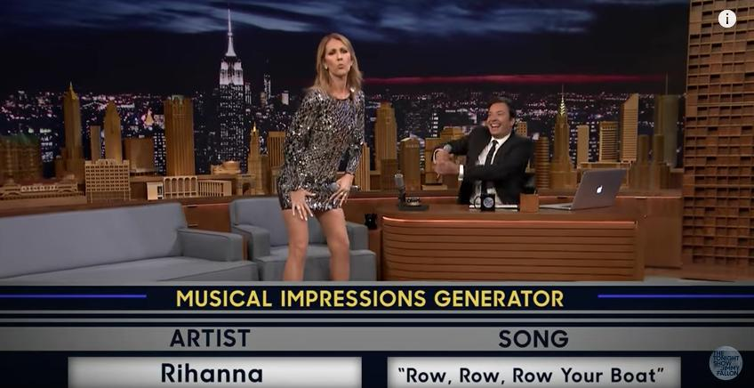 Celine Dion on Jimmy Fallon's Wheel Of Musical Imp