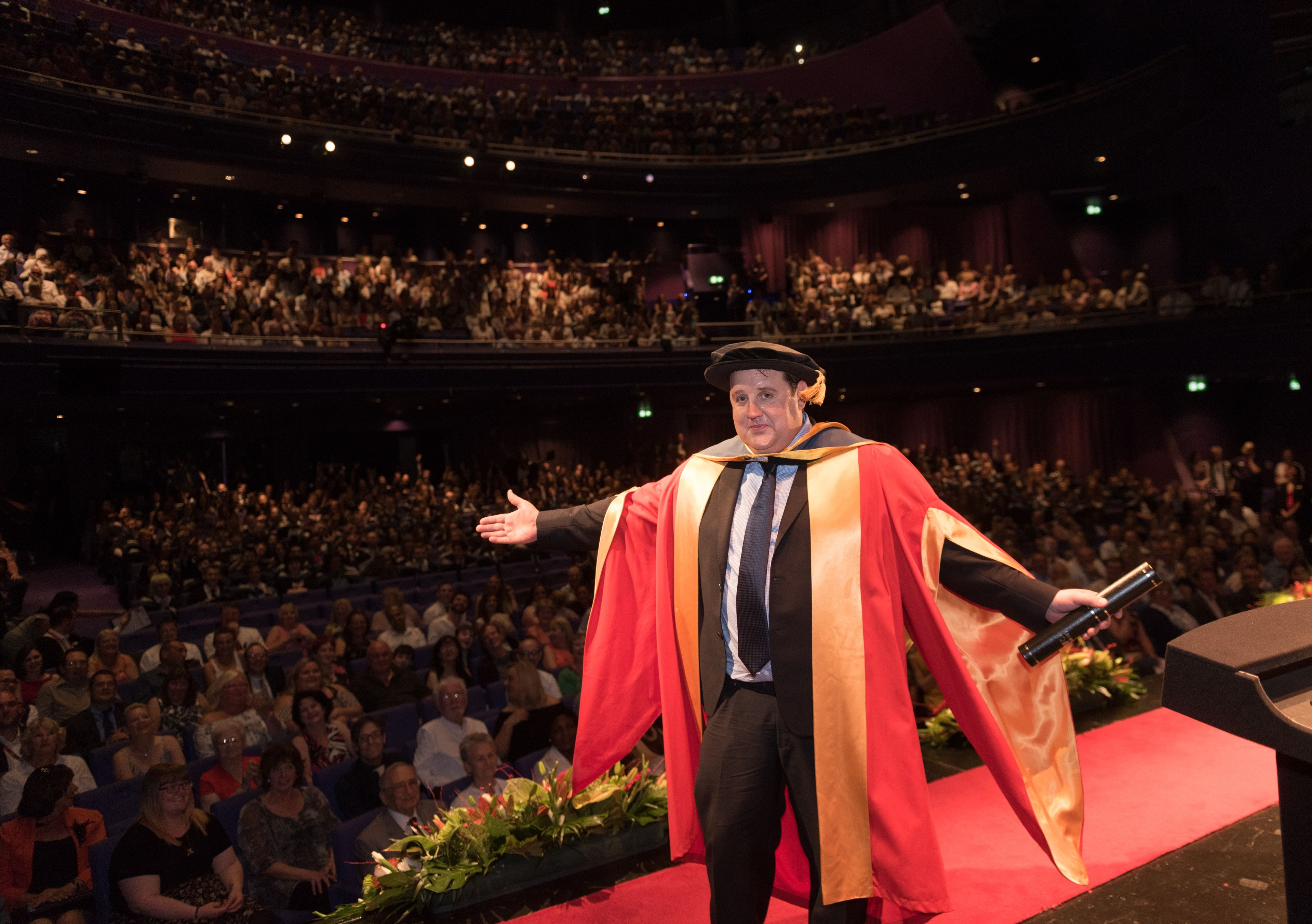 Peter Kay honorary doctorate from Salford Universi