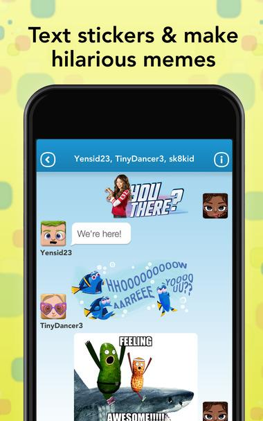 new disney instant messaging app