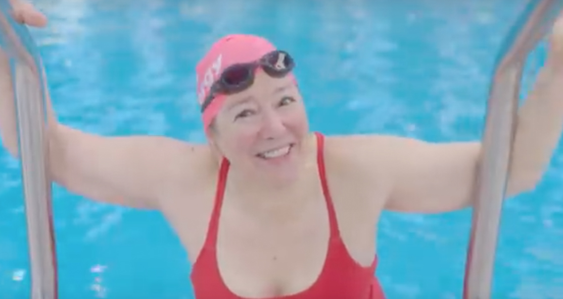 Older lady swimming The Body Image movement