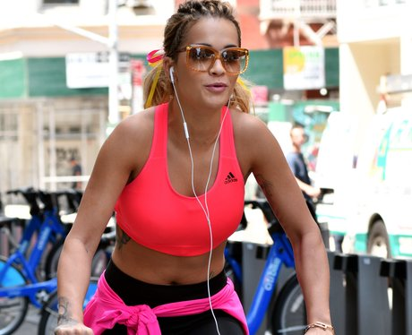 Rita Ora Takes A Break In New York For A Bike Ride