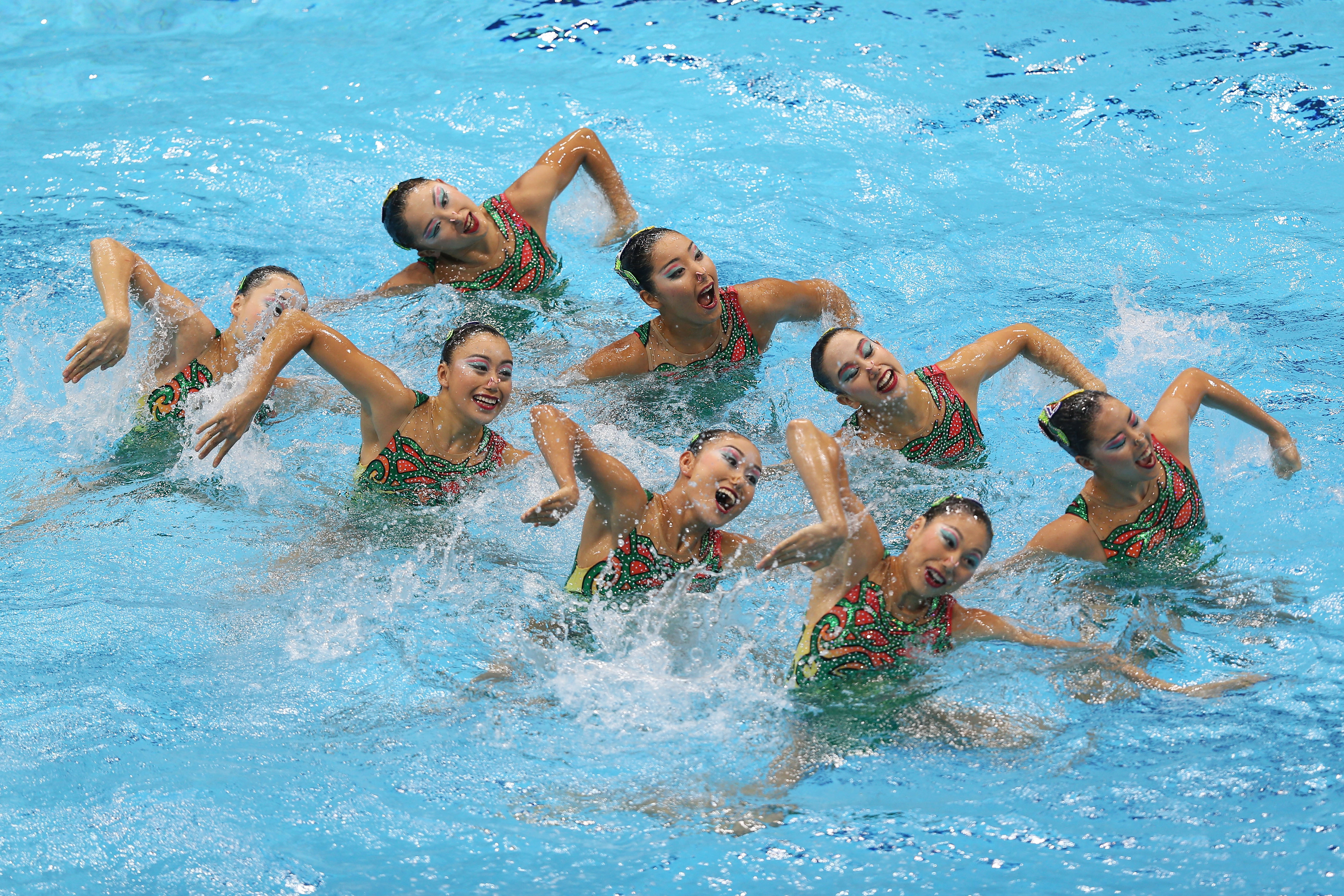japan synchronised swimming team 2012