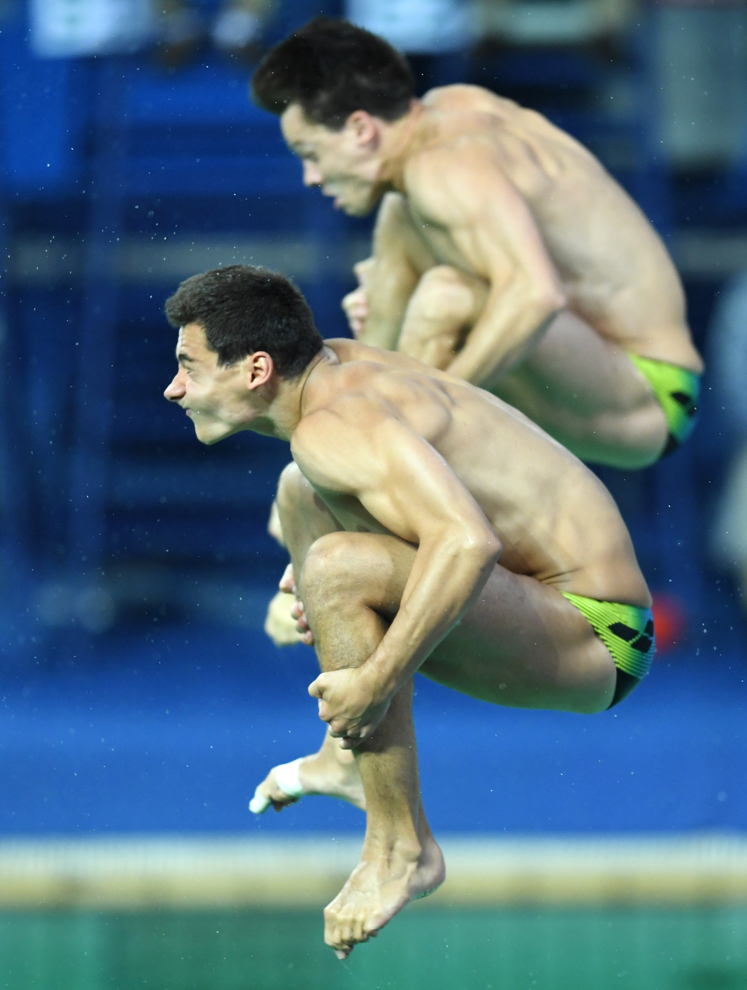 olympic divers funny faces