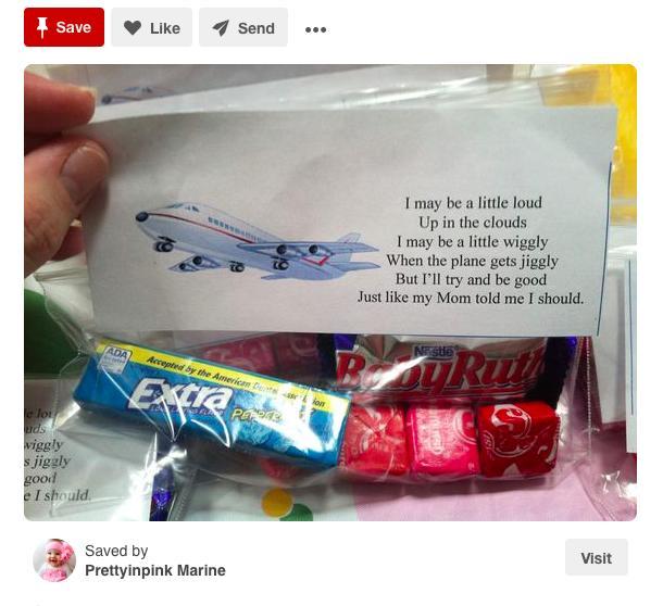 pinterest flight favours