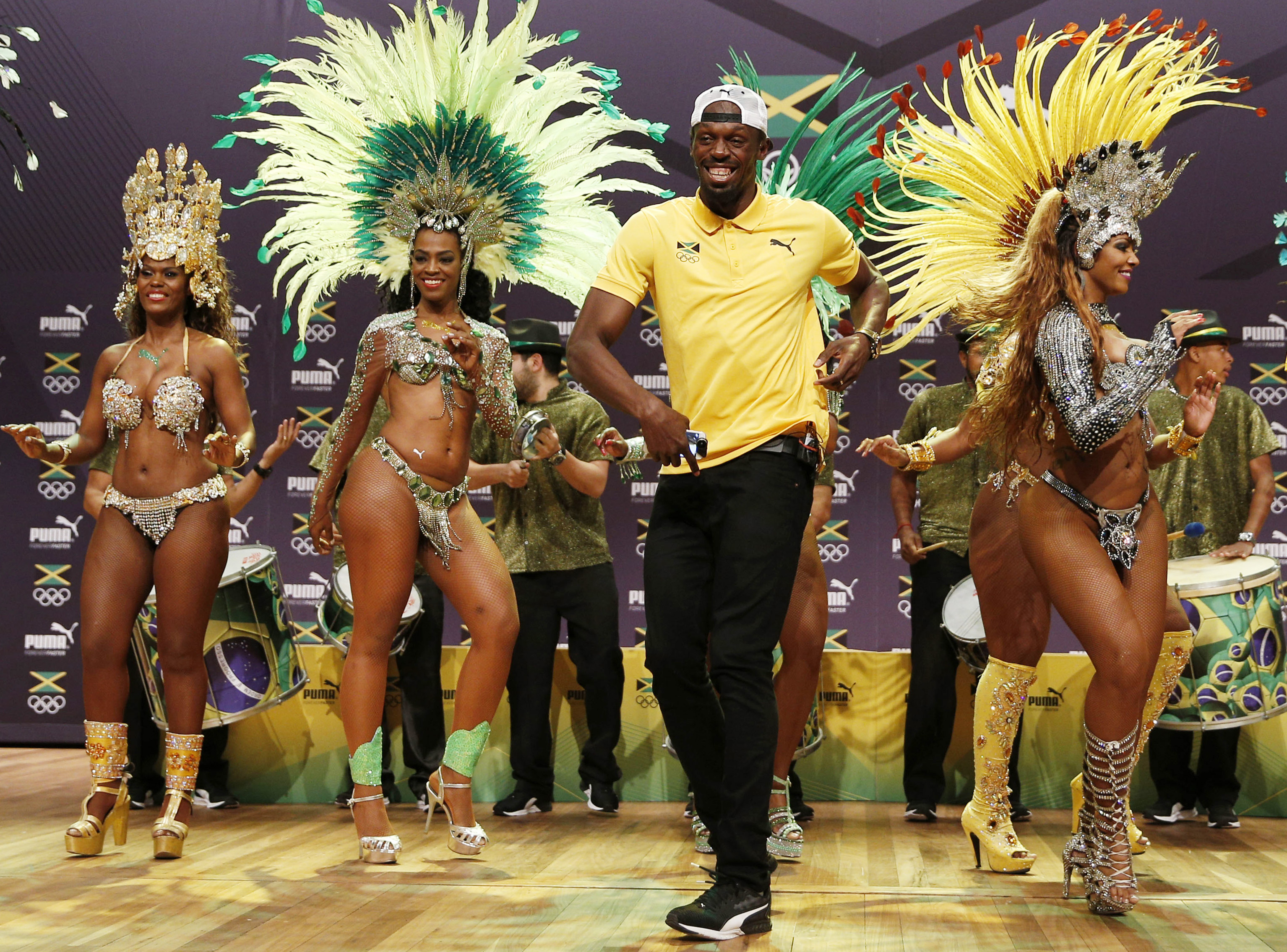 Usain Bolt dancing in Rio