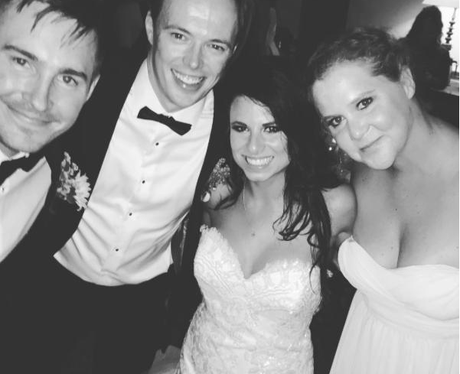 Amy Schumer as a bridesmaid at friend's wedding