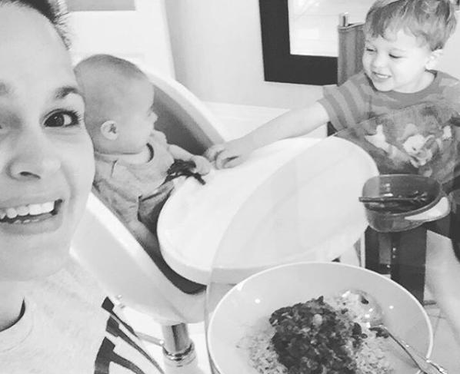 We love this picture of Giovanna and her boys Buzz and Buddy.