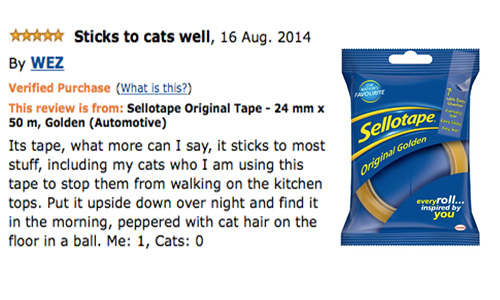 amazon review sellotape